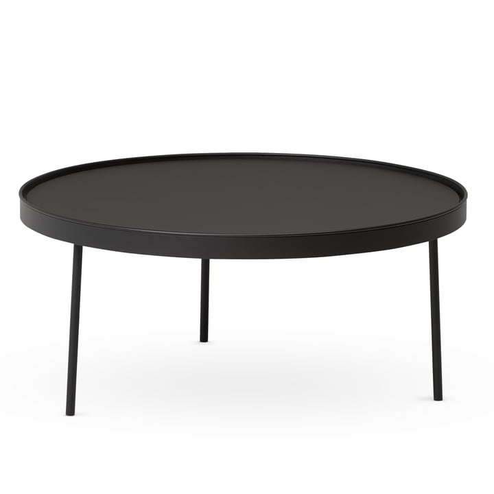 Northern - Table moyenne Stilk Coffee, Ø 74 x H 34 cm, noir