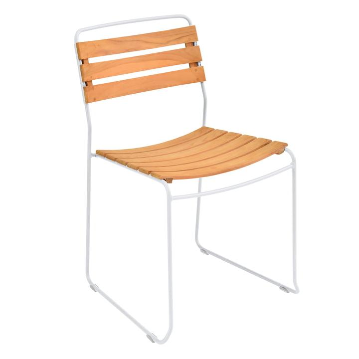 La chaise Surprising Teck de Fermob en teck / blanc coton