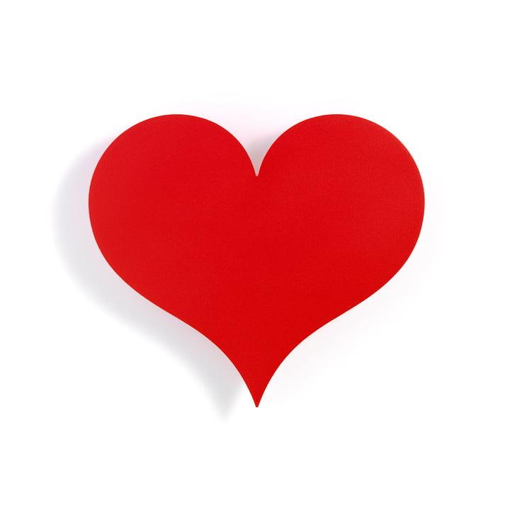 Le Vitra - Relief mural en métal, Petit Coeur en rouge