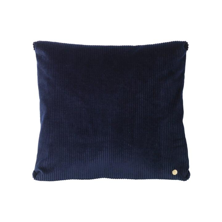 Coussin Corduroy 45x45cm de ferm Living en bleu navy