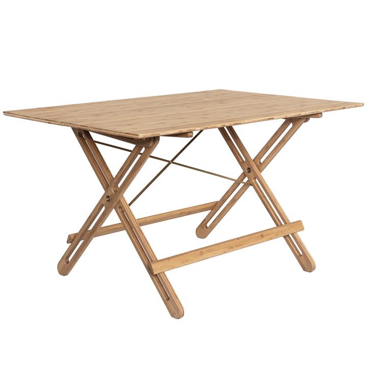 La table pliante Field de We Do Wood en bambou