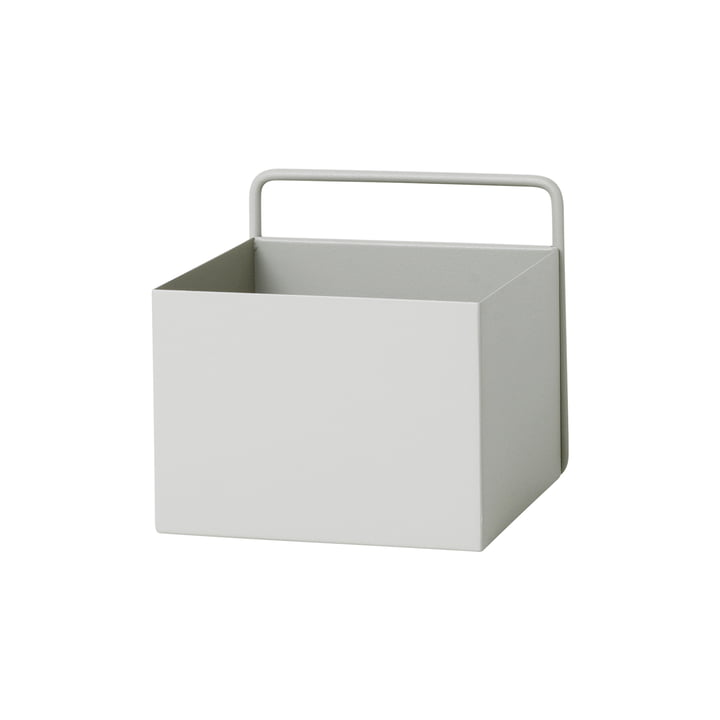 Wall Box carrée par ferm Living en gris clair