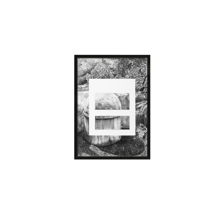 by Lassen - Silhouette Poster A5, 21.5 x 14.8 cm, gris