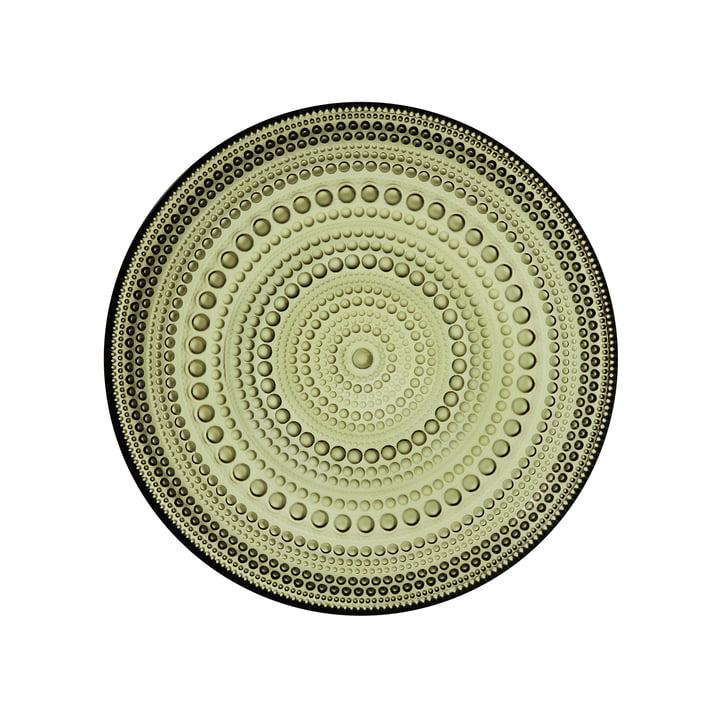 Kastehelmi Assiette Ø 17 cm de Iittala dans le vert mousse