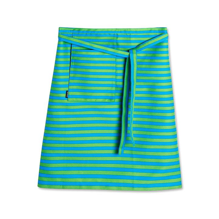 Tablier demi-longueur de Marimekko en vert / turquoise
