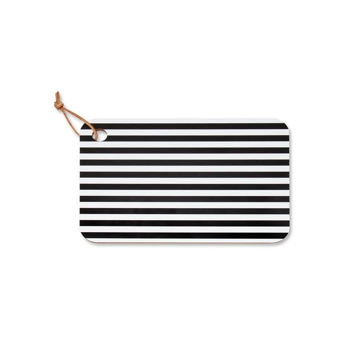Planche à découper Tasaraita de Marimekko en noir / blanc