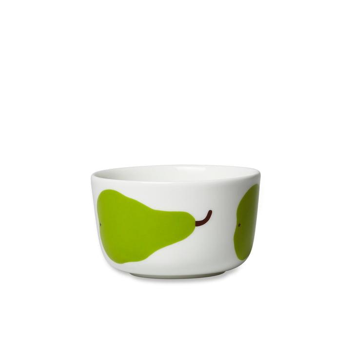Bol Oiva Päärynä 250ml de Marimekko en blanc / vert