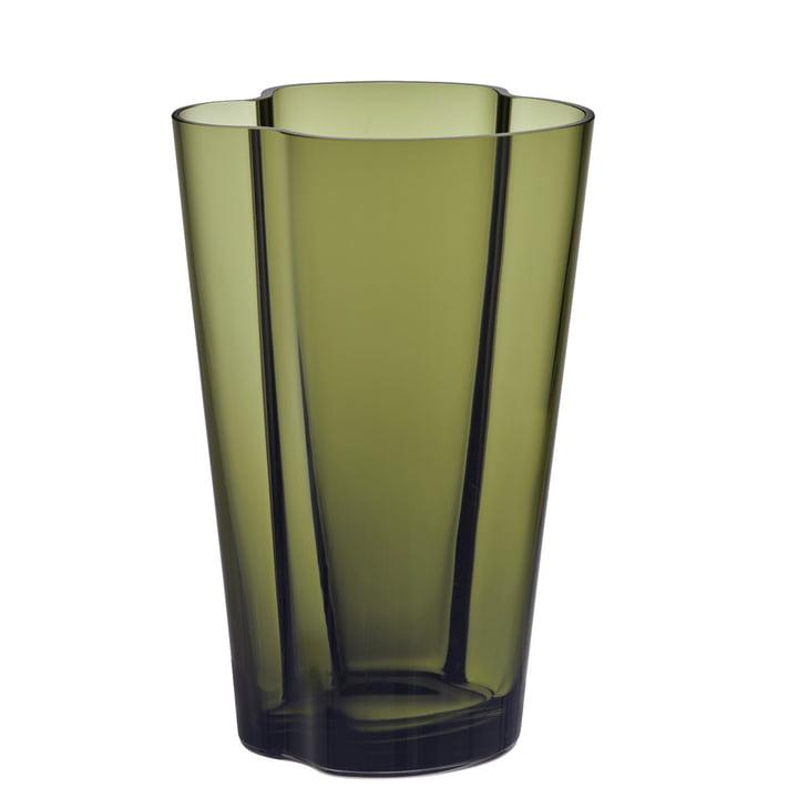 Vase Aalto Finlandia 220 mm par Iittala en vert mousse