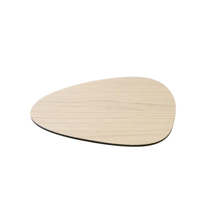 Cut & Serve Planche à découper Curve S 25 x 21 cm par LindDNA en cendre