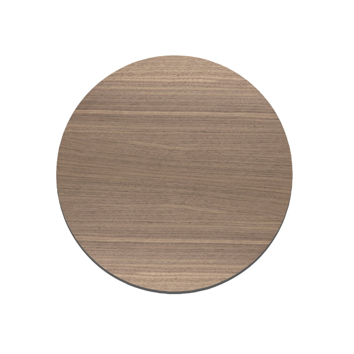 Planche à découper Cut&Serve Circle S Ø 24 cm de LindDNA en noyer