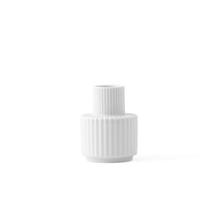 Bougeoir H 7 cm de Lyngby Porcelæn en blanc