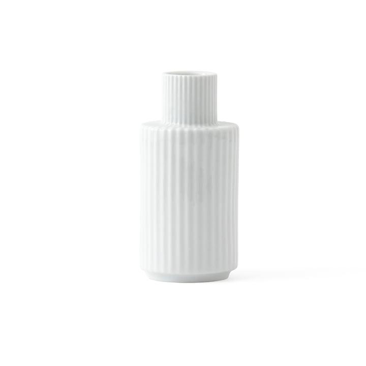 Bougeoir H 11 cm de Lyngby Porcelæn en blanc