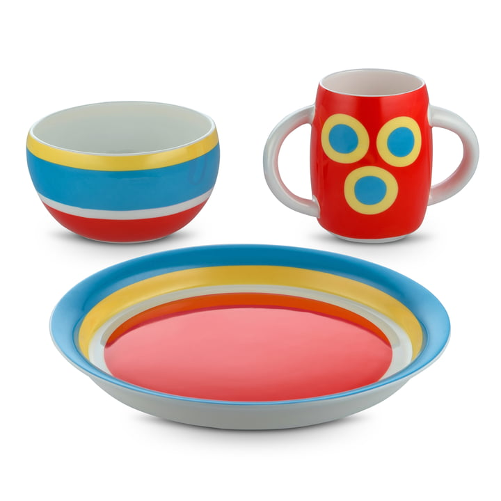 Vaisselle pour enfants Alessini Con-Centrici par Alessi