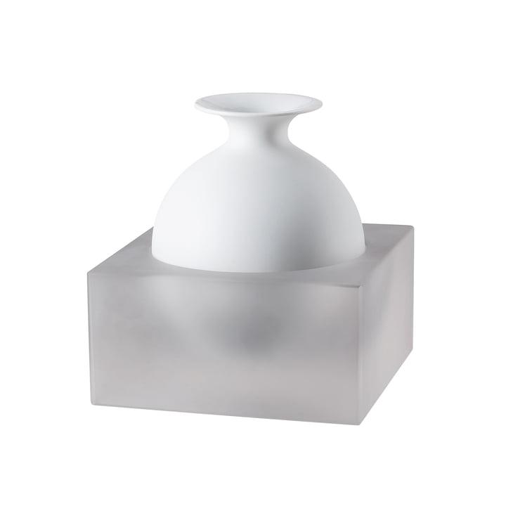 Vase Freddo H 18 cm de Rosenthal en verre / blanc