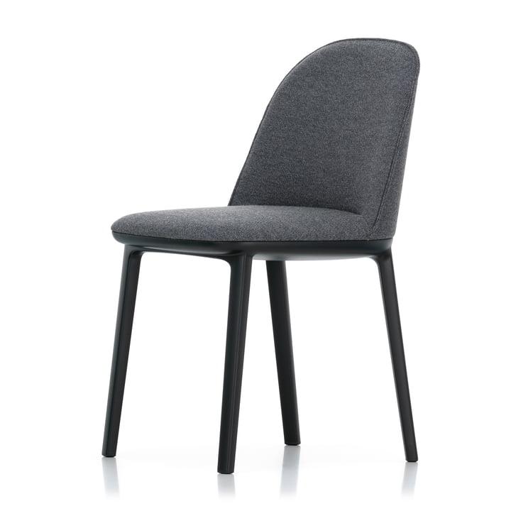 Chaise Softshell Side Chair by Vitra en version de base sombre / Plano (sierragrey / nero)