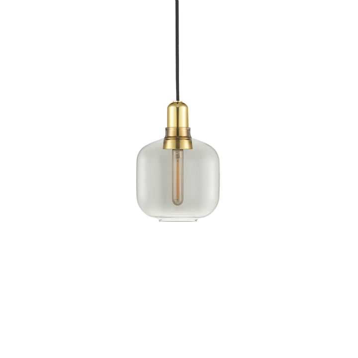 Normann Copenhagen - Lampe pendante petite, fumée / laiton