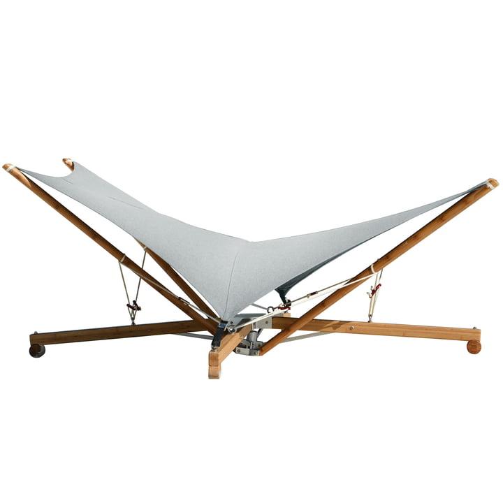 Chaise longue Kajito de Cacoon avec tissu, couleur moon