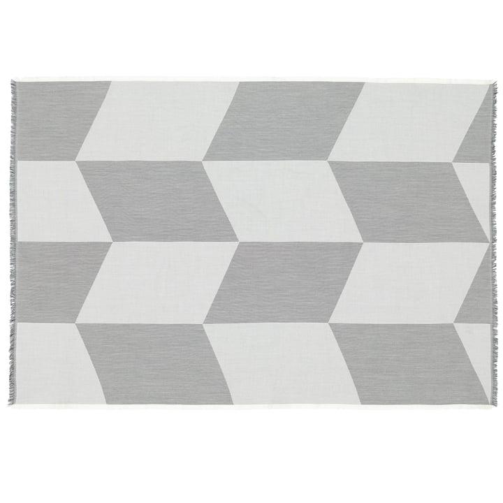 Couverture en laine Sway de Muuto en noir / blanc