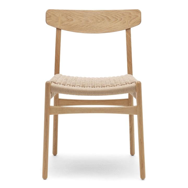 La chaise CH23, chêne huilé / tressage entrecroisé par Carl Hansen