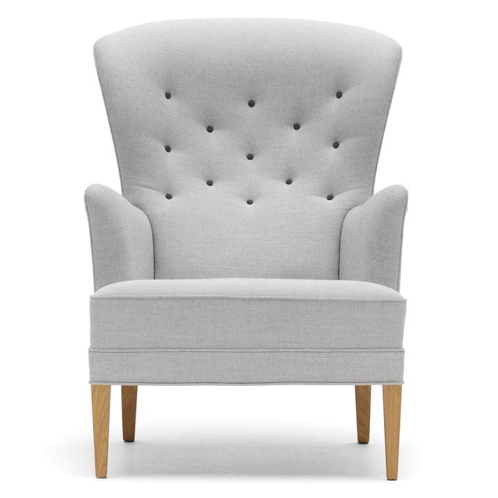 Le FH419 Heritage Chair de Carl Hansen, chêne huilé / toile 124 (boutons Hallingdal 126)