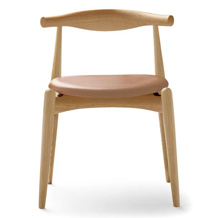 Carl Hansen - CH20 Elbow Chair, chêne savonné / cuir Thor 325