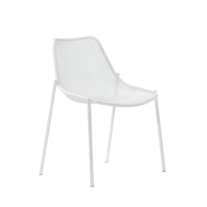 La chaise Round d'Emu, blanc