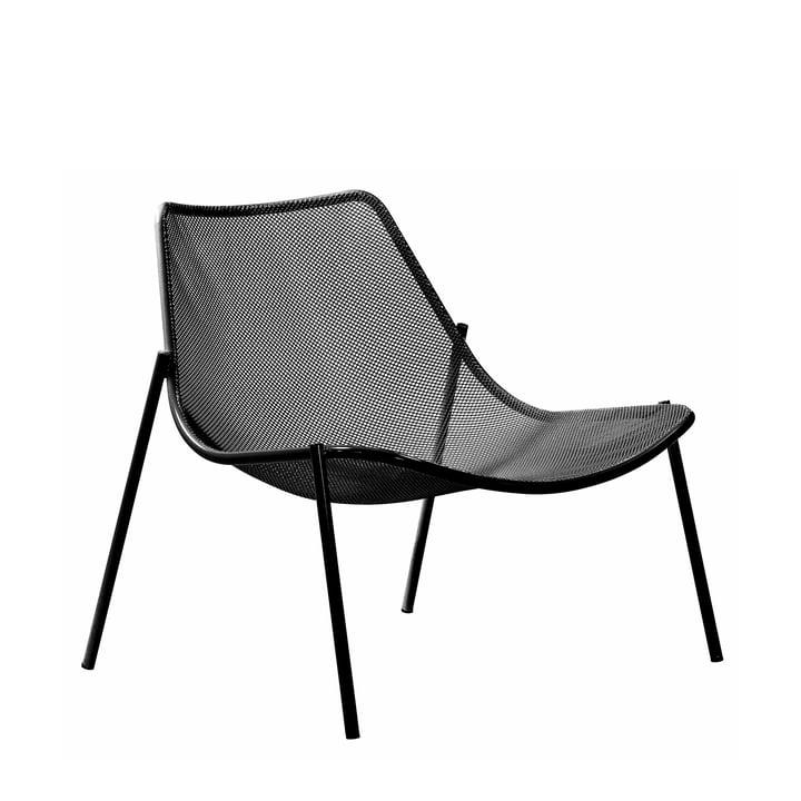La chaise lounge Round par Emu, noir