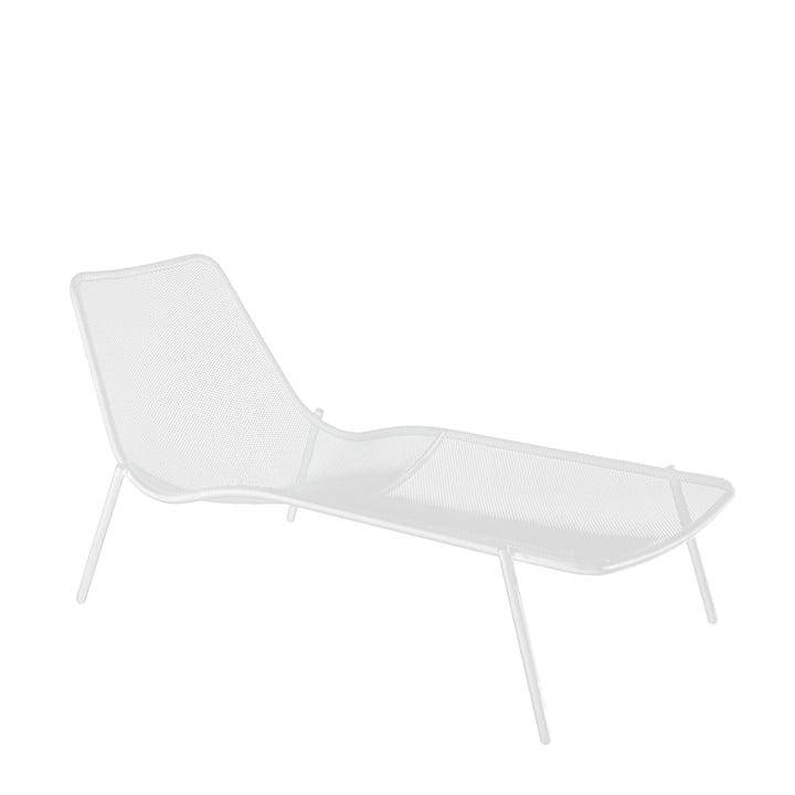 La chaise longue Round par Emu, blanc