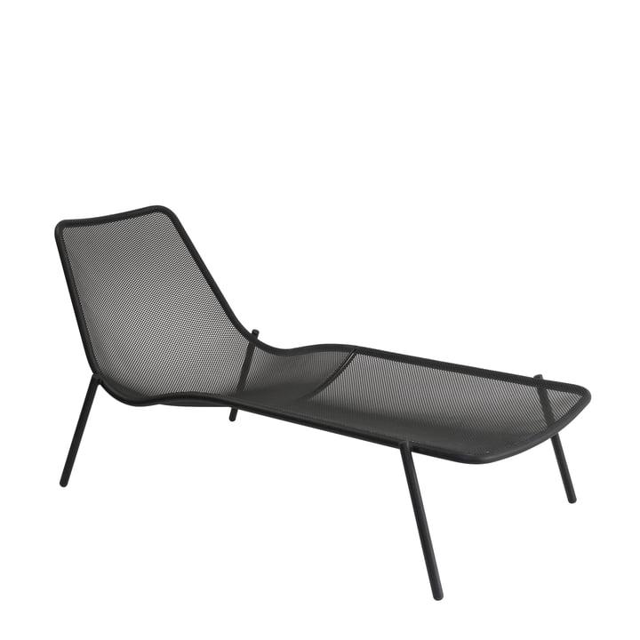 La chaise longue Round par Emu en gris foncé