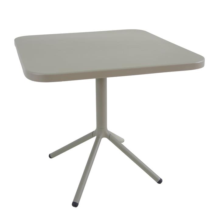 La table de bistrot Grace par Emu H74cm, 70x70cm, gris-vert (37)