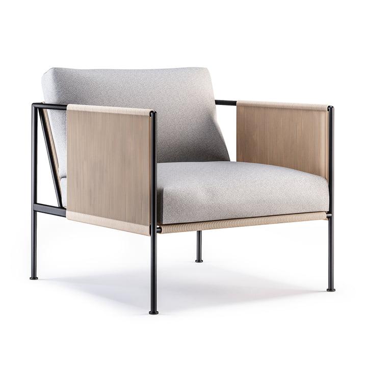 La chaise Garden Antibes de Röshults en anthracite / gris naturel