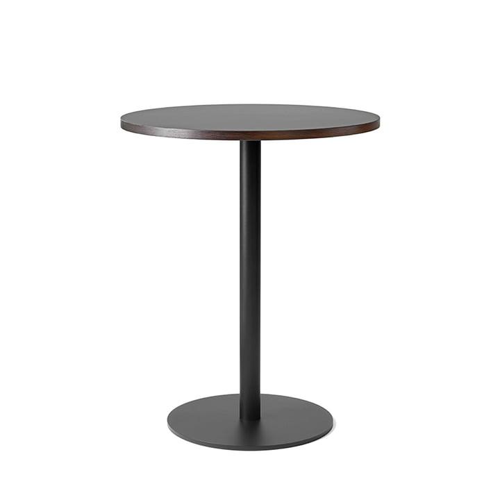 Table de bistro Nærvær Ø60xH74cm par &Tradition en noir / chêne fumé et huilé