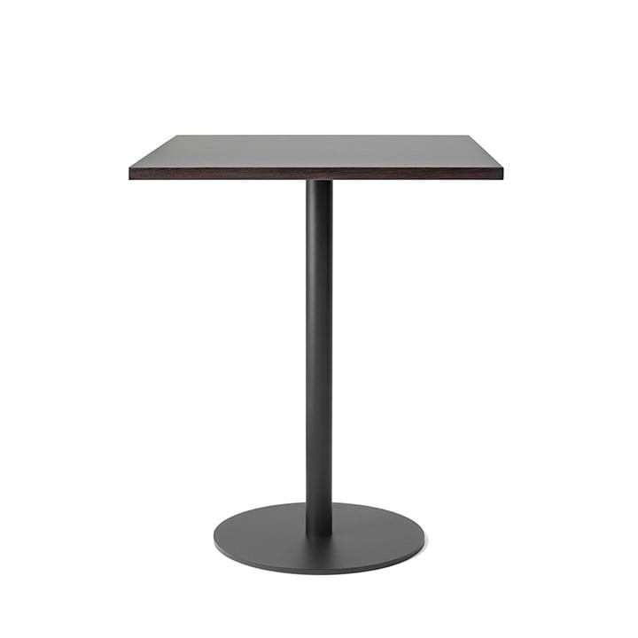 Table de bistro Nærvær 60x70cm par &Tradition en noir / chêne fumé et huilé