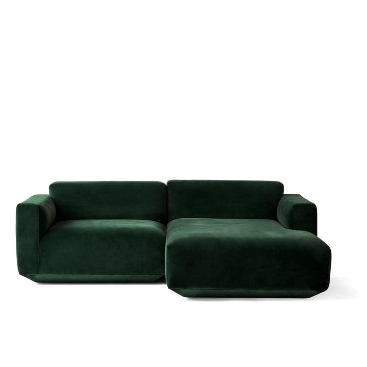 Canapé d'angle Develius, configuration B par &Tradition en Velvet 1 (Forest)