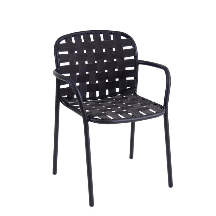 La chaise Yard par Emu, noir / gris