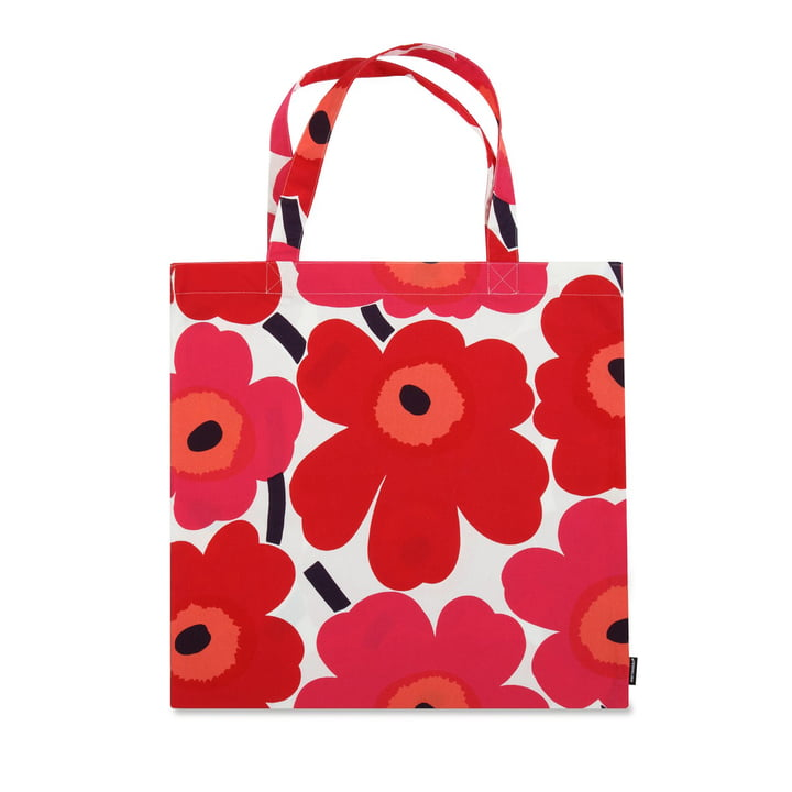 Le sac à provisions Marimekko - Pieni Unikko, rouge / blanc