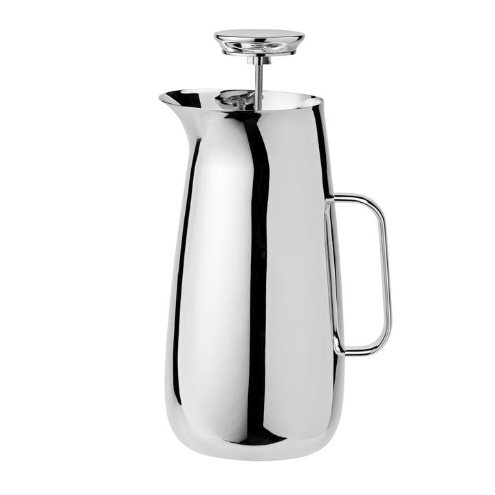 Foster Carafe filtrante à pression en acier inoxydable et machine à thé Stelton