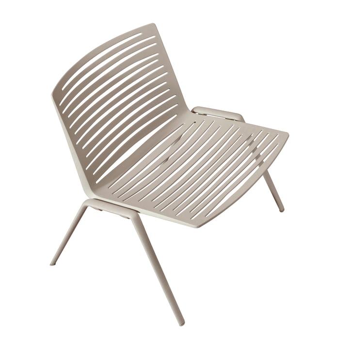 Chaise lounge Zèbre par Fast en blanc crème