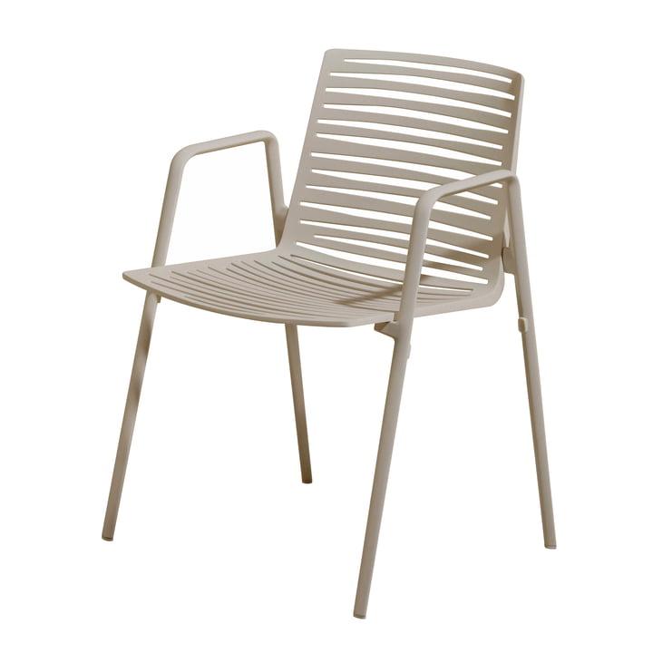 Chaise à accoudoirs Zèbre par Fast en blanc crème