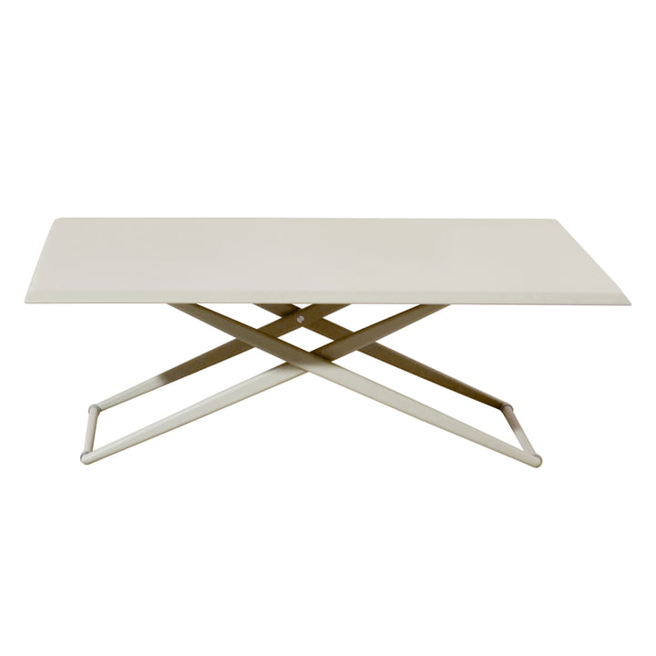 Table Up & Down Zèbre par Fast en blanc crème