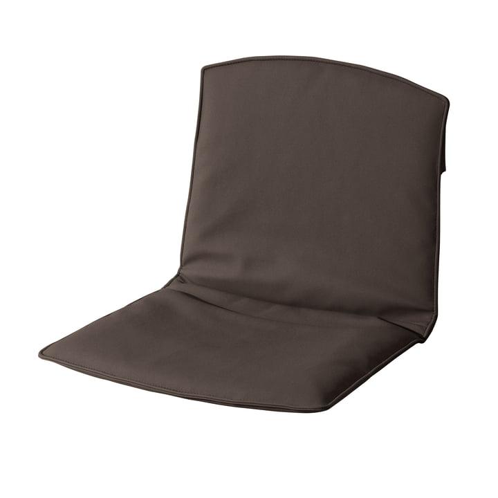 Coussins d'assise et de dossier pour chaise Zebra de Fast en marron terre
