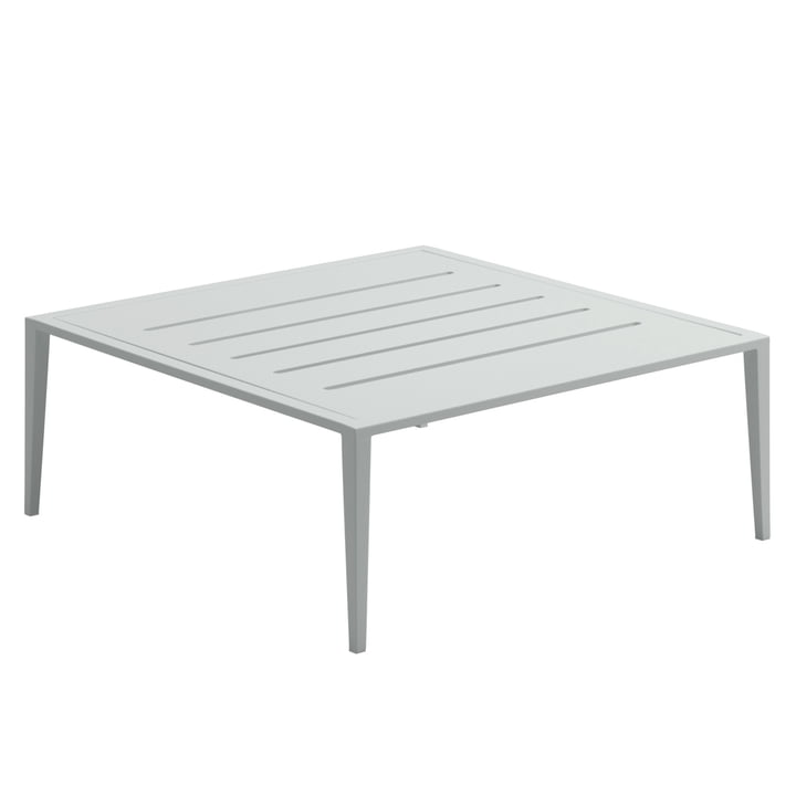 La table de salon Vista par Gloster, 76,5x76,5cm, météore