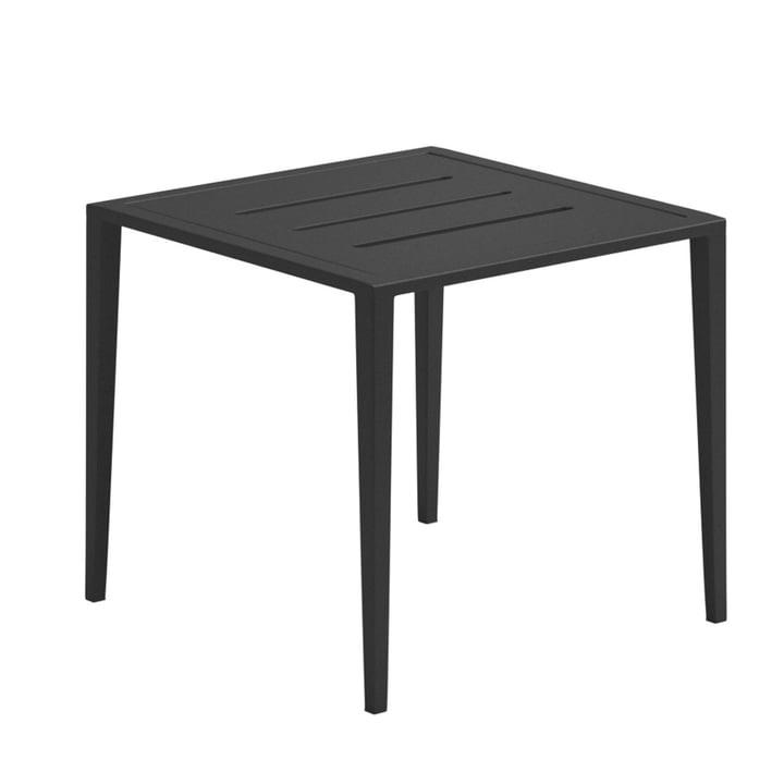 La table d'appoint Vista Lounge de Gloster, 45x45cm, météore