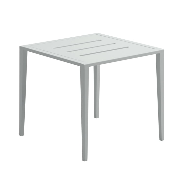 La table d'appoint Vista Lounge de Gloster, 45 x 45 cm, blanc