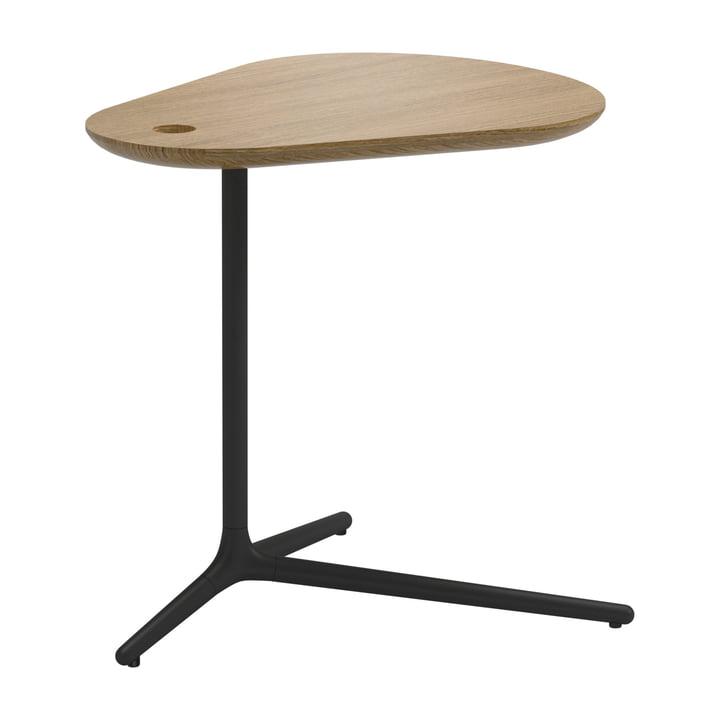 La table d'appoint Trident par Gloser H50cm, teck / blanc