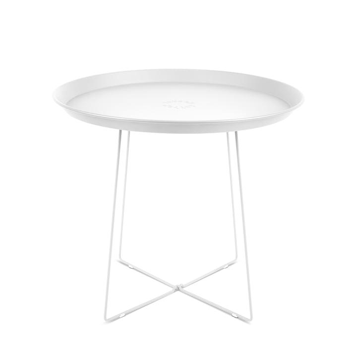 La table d'appoint et plateau Plat-o, blanc de Fatboy