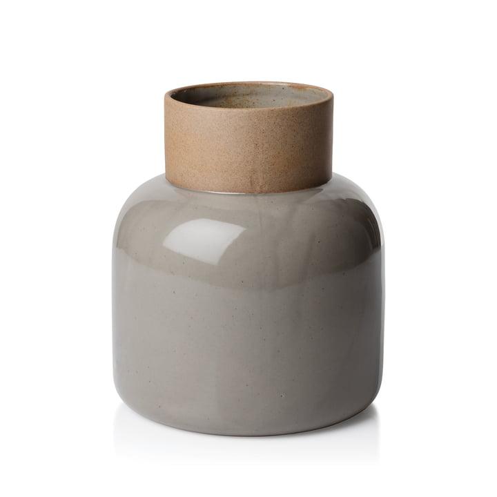 Le vase Jar de Fritz Hansen, Ø17,5x21cm, gris mousse
