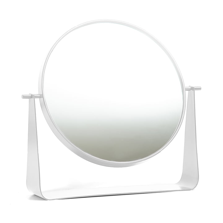 Miroir de table Narcisse de Hartô en blanc