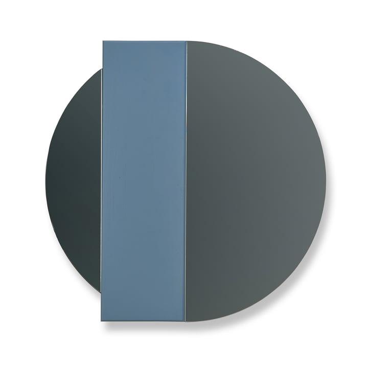 Miroir mural Charlotte de Hartô en bleu / verre miroir gris