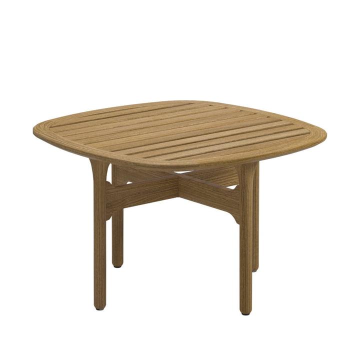 Table d'appoint Bay Lounge par Gloster, 63x63cm, teck